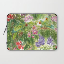 Birds and Orchids Tropical Rainforest II Laptop Sleeve