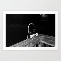 skateboard Art Prints featuring skateboard. by alexandrajade