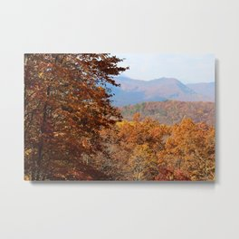 Fine Art Photography Landscape Fall Foilage Great Smoky Mountain National Park Tennessee Metal Print