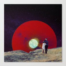 Together with the Sunset Canvas Print