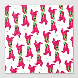 italian greyhound - wht pattern Canvas Print