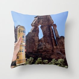 Druid Staff Throw Pillow