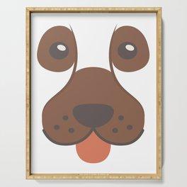 Dog Emoji Bloodhound Serving Tray
