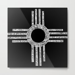 Sacred Zia Metal Print