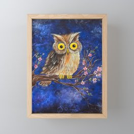 Midnight owl  Framed Mini Art Print