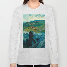 Canadian Landscape Franklin Carmichael Art Nouveau Post-Impressionism A Northern Silver Mine, 1930 Long Sleeve T-shirt