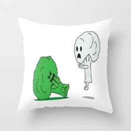 This is a great gift for broccoli haters who loves to make fun of it and to show your friends GHOST! Throw Pillow