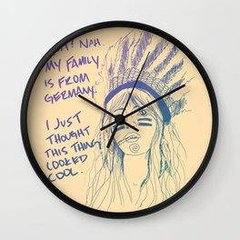 Attention Whore - Color Wall Clock