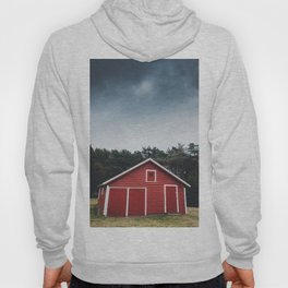 Red Barn and Gray Sky Hoody
