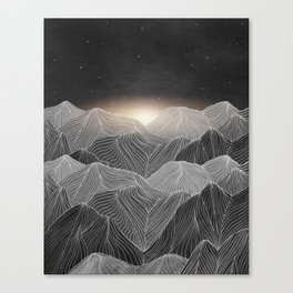 Lines in the mountains XIX Canvas Print
