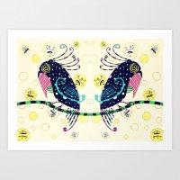 Djidja with Gemini birds Art Print