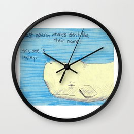 Lesley The Sperm Whale Wall Clock