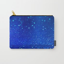 Abstract blue bokeh light background Carry-All Pouch