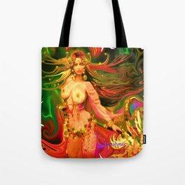 Nude warrior goddess ladykashmir  Tote Bag