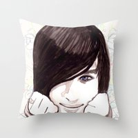 robert farkas Throw Pillows featuring Robert by hoshi-kou