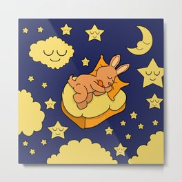 Sleeping Bunny Metal Print