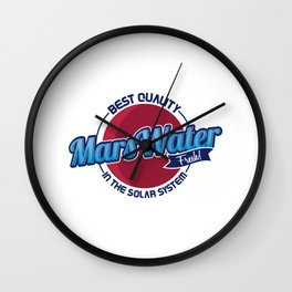 Marswater Best Quality In The Solar System Gift Wall Clock