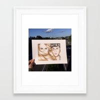 paper towns Framed Art Prints featuring Paper Towns Drawing by dancing_papers