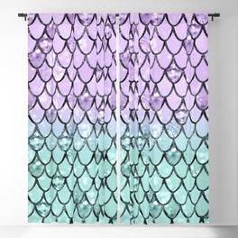 Mermaid Princess Glitter Scales #2 #shiny #pastel #decor #art #society6 Blackout Curtain
