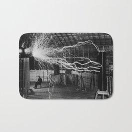 Nikola Tesla - Bolts Of Electricity Bath Mat