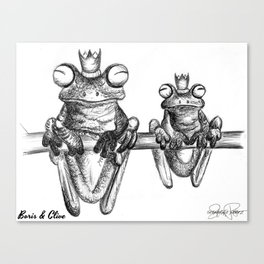 BORIS & CLIVE Frog Prince Print Canvas Print