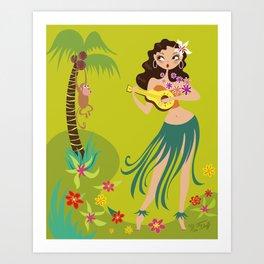 Hula Honey Art Print