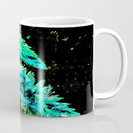 359 Aqua Flower Sprays Coffee Mug