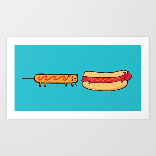 Dog Eat Dog World Art Print