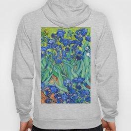 Vincent Van Gogh Irises Painting Hoody