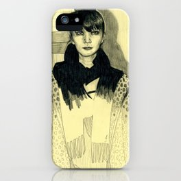 Fashion sketch iPhone Case