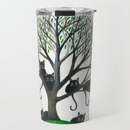 Borders Whimsical Cats in Tree Travel Mug