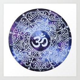 Om Galaxy Mandala Art Print