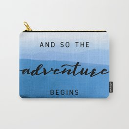 Smoky Mountains -  And So The Adventure Begins Carry-All Pouch