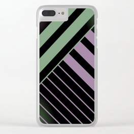 Diagonal Green and Violet Clear iPhone Case