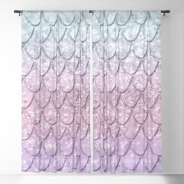 Mermaid Scales on Unicorn Girls Glitter #4 #shiny #pastel #decor #art #society6 Sheer Curtain