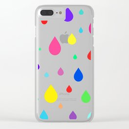 colorful raindrops Clear iPhone Case