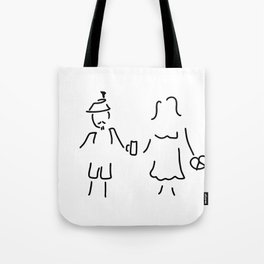 German Germany to Bavarians dirndl Tote Bag