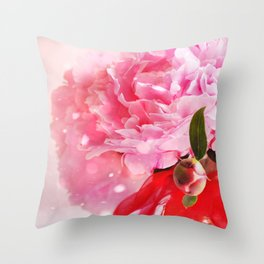 Pretty Pink Peonies :) Throw Pillow