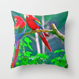 Phenomenal Stunning Rainbow Color Air Creatures Zoom UHD Throw Pillow