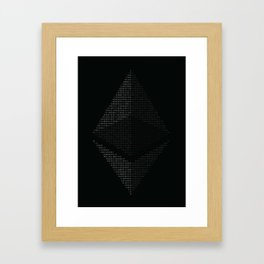 Ethereum Binary Framed Art Print