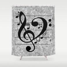 Love Music Shower Curtain