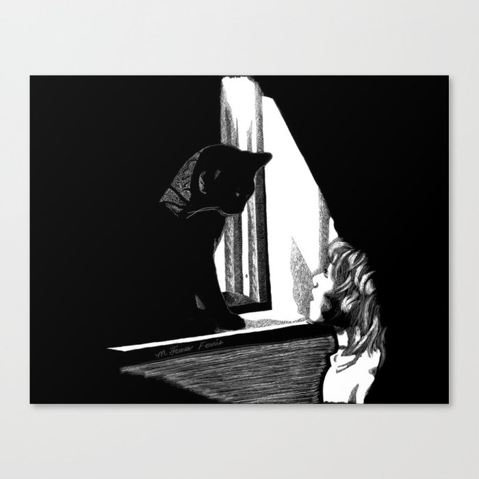 Two Curious Canvas Print