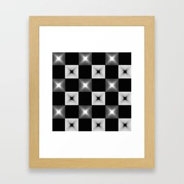 Black And White Illusion Pattern Framed Art Print