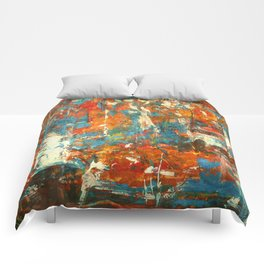 An Oasis In A Desert Comforters