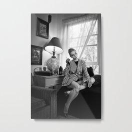 Striped Jacket Metal Print