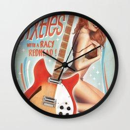 Guitar Girl 03 'Racy Redhead' Wall Clock