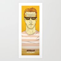 apollo Art Prints featuring APOLLO by Berkay Daglar