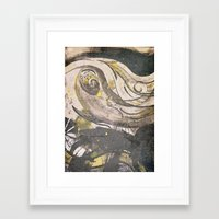 reassurance Framed Art Prints featuring Abstraction INC II by Magdalena Hristova