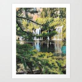 Pixelating Hanging Lake Art Print