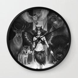 Owl Totem Wall Clock